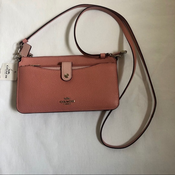 Coach Handbags - Blush pink leather coach going out, cross body bag